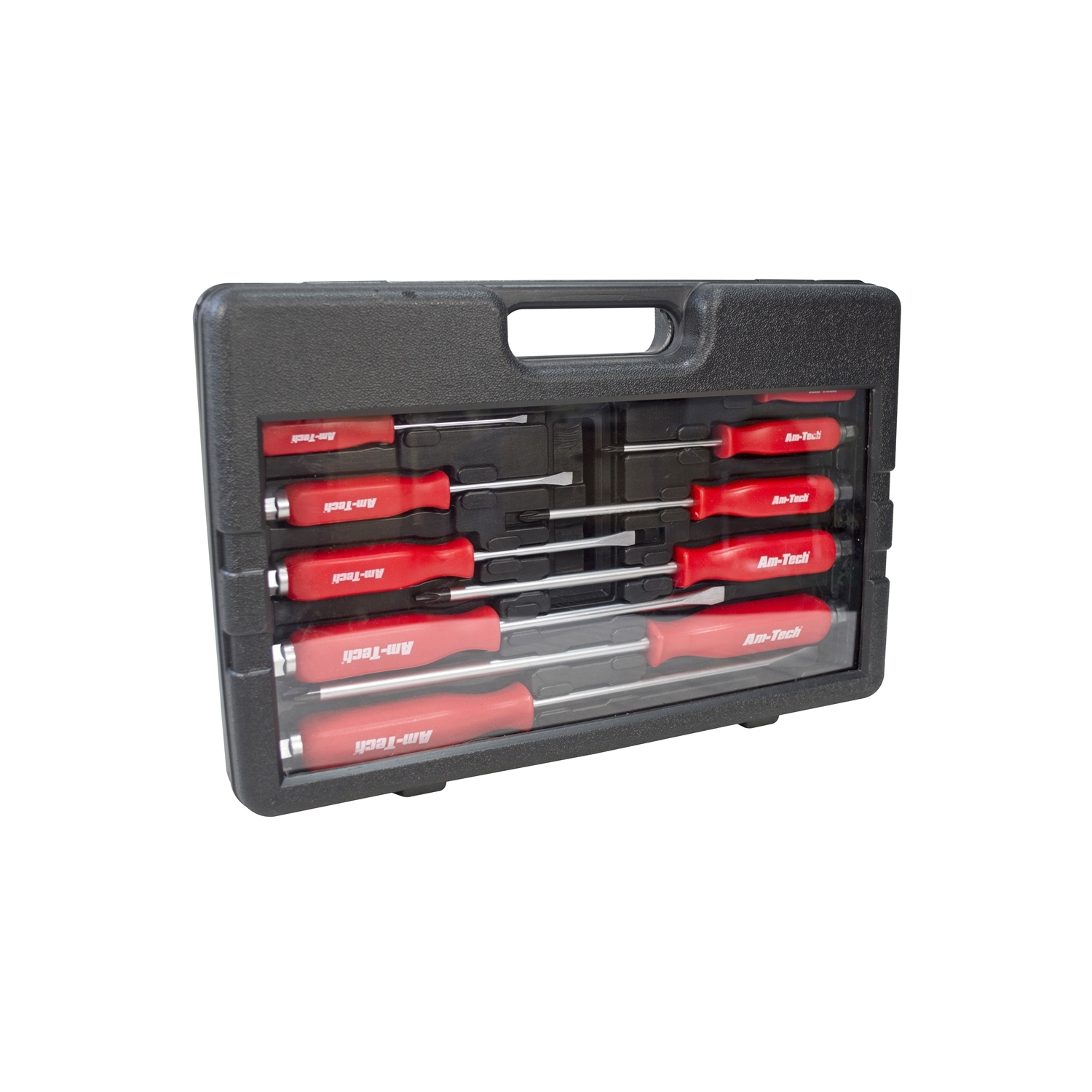 12 pc heavy duty engineers mechanics screwdriver set with hex bolsters case ebay. Black Bedroom Furniture Sets. Home Design Ideas